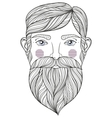 zentangle Portrait of bearder Man with vector image