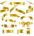 Golden Web Ribbons Set vector image