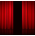 Open Red Curtains vector image