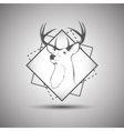 Deer head logo isolated on white background vector image