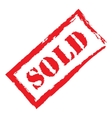 red stamp sold vector image