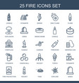 25 fire icons vector image vector image