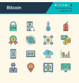 bitcoin icons filled outline design collection 38 vector image vector image