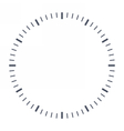 Blank clock face vector image vector image
