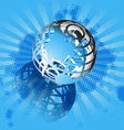 blue and globe vector image vector image