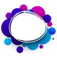 Blue and purple background vector image vector image