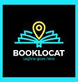book location logo vector image vector image