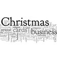 business christmas cards vector image vector image