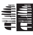butcher knife silhouette sharp vector image vector image