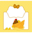 Chicken Card vector image vector image