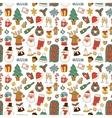 christmas symbols pattern vector image vector image