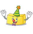 clown butter mascot cartoon style vector image vector image