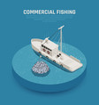 commercial fishing vessel background vector image vector image