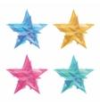 Creative polygon stars vector image vector image