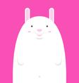 cute big fat white rabbit vector image vector image