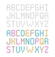 Decorative knitted crocheted alphabet Set of vector image vector image
