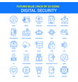 digital security icons - futuro blue 25 icon pack vector image