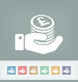 financial icon - sterling vector image vector image