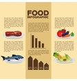 Food design Infographic icon Colorful vector image