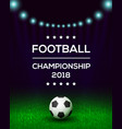 football championship poster banner template vector image