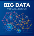 futuristic big data banner outline style vector image