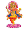 ganesha on a white background vector image vector image