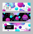 geometric shapes banners set vector image vector image