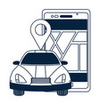 gps car tracking vector image