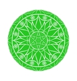 Green Flower mandala over white vector image vector image