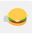 hamburger isometric icon vector image vector image