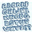 hand drawn doodle alphabet vector image