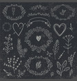 hand drawn doodle romantic set linear vector image vector image