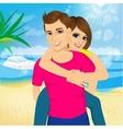 Happy couple in love vector image vector image