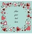 Hearts frame Greeting card concept vector image vector image