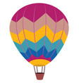 hot air balloon on white background vector image