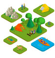 isometric colorful active recreation concept vector image vector image