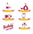 Labels set of drinks for restaurant and cafe vector image vector image