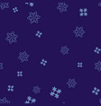 light blue snowflakes on a dark blue background vector image vector image