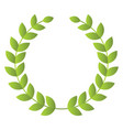 light green leaves forming a wreath on a white vector image