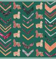 llama chevron seamless repeat pattern vector image vector image