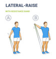 man doing lateral arm raise home workout exercise
