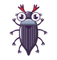 may bug icon cartoon style vector image vector image