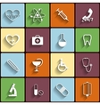 Medical flat icons set vector image