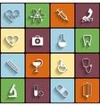 Medical flat icons set vector image vector image