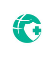 medical health clinic world protection logo vector image vector image