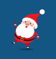 merry santa claus stand smile on one leg in dance vector image