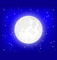 Moon with shining stars