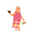 old woman character vector image vector image