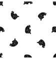orangutan pattern seamless black vector image vector image