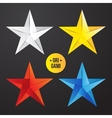 paper origami star icon Colorful origamy vector image vector image